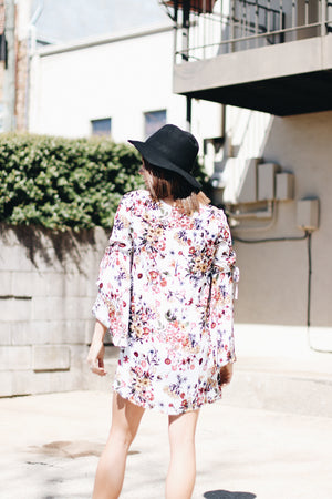 Applaud Me Floral Wide Sleeve Dress
