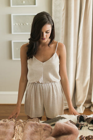 Confidence Game Pleated Romper
