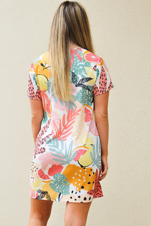 MinkPink Spring Citrus Tee Dress