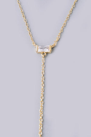Dainty Gold Lariat - Savoir-Faire | Women's Clothing Boutique
