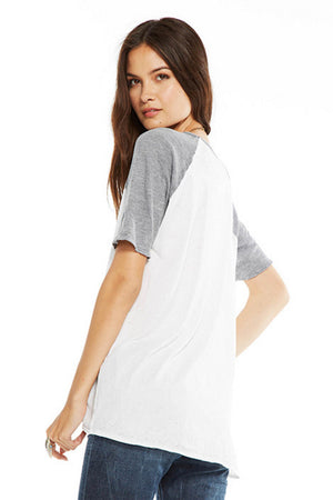 Chaser Brand Blocked Jersey Relaxed Raglan Tee - Savoir-Faire | Women's Clothing Boutique