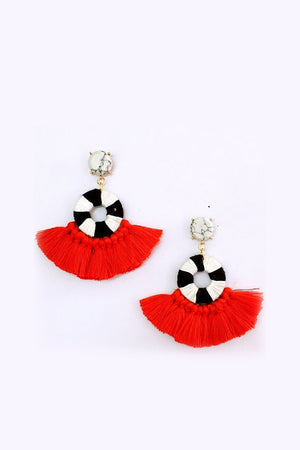 Team Mate Fringe Earring