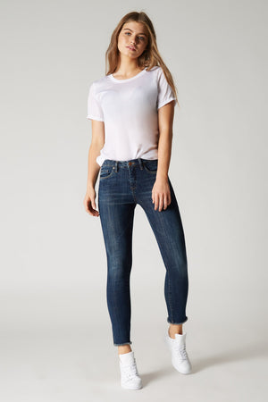 Blank NYC Rumor Mill Skinny Frayed Hem Denim - Savoir-Faire | Women's Clothing Boutique