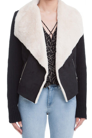 Easy Does It Suede Fur Jacket