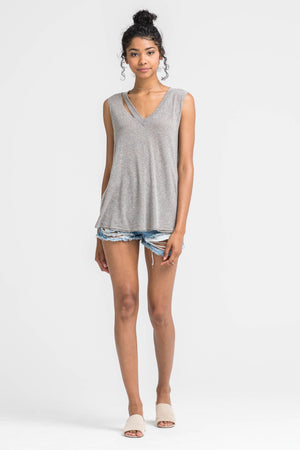 Alter Ego Cut Out Neckline Tank Top