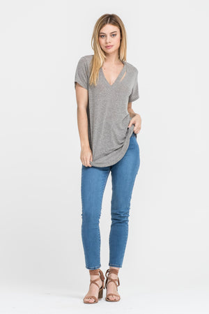 Alter Ego Cut Out Neckline Tee