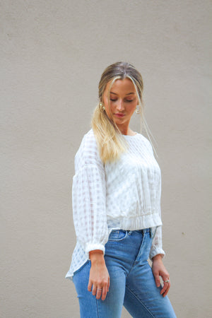 Goodness Grace Sheer Gingham Top