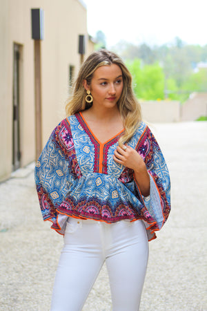 Long Island Blues Dolman Sleeve Top