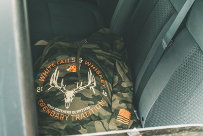 Whitetails & Whiskey Hoodie - Classic Woodland
