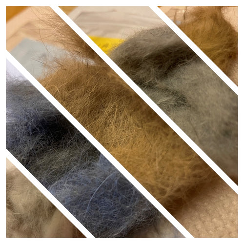 Natural Rabbit fur Dubbing