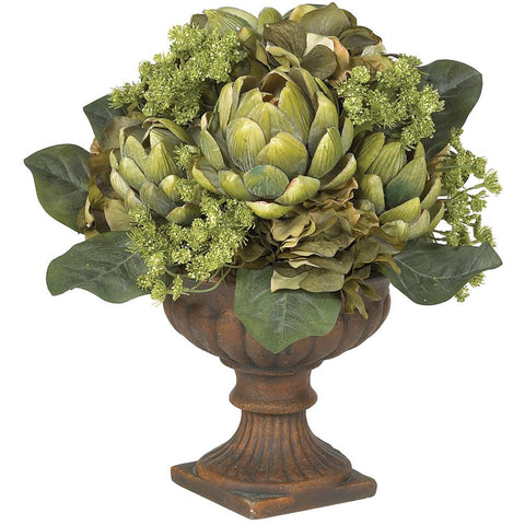 Artichoke Centerpiece Silk Flower Arrangement