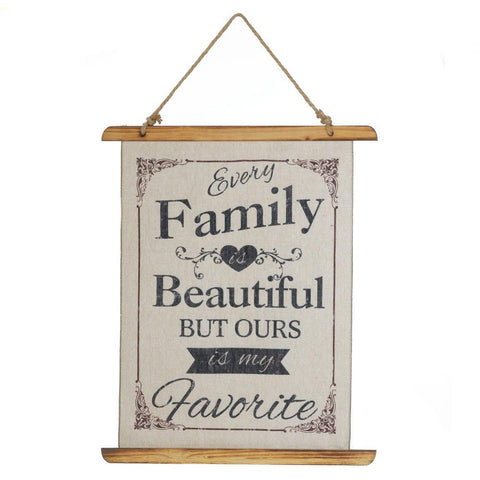 BEAUTIFUL FAMILY LINEN LINEN WALL ART