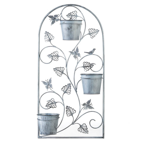 Butterfly Trellis With Flower Pots