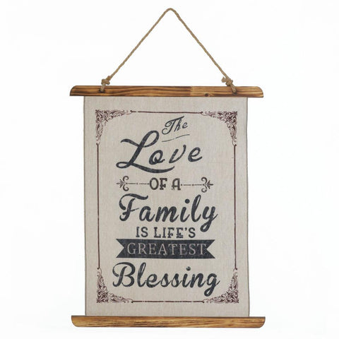 FAMILY LOVE LINEN WALL ART