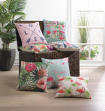 Flamingos Feathers Decorative Pillow