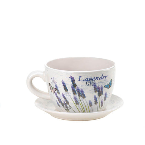 LAVENDER FIELDS TEACUP PLANTERS
