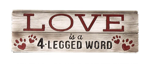 LOVE PETS DECORATIVE SIGN