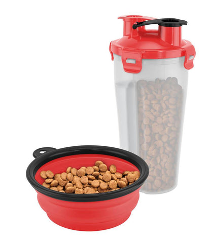 ON-THE-GO PET WATER AND FOOD BOTTLE