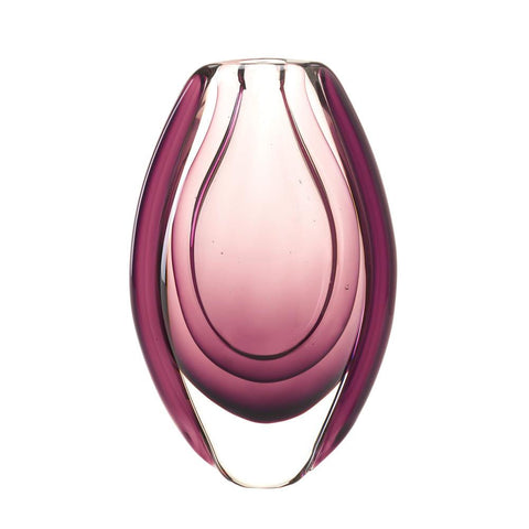 WILD ORCHID ART GLASS VASE