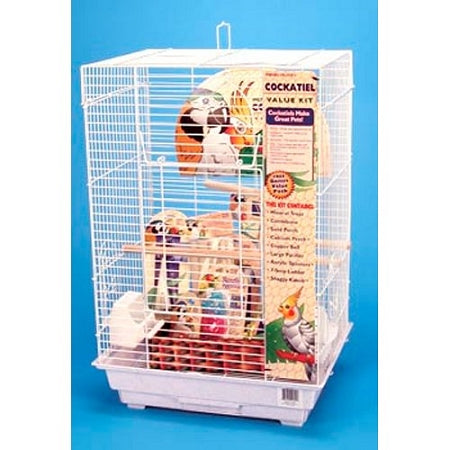 Cockatiel Square Top Bird Cage Kit
