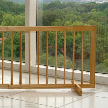 Step Over Pet Gate Extension - Walnut