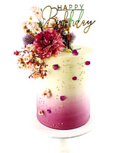 Load image into Gallery viewer, Ombre Uniquely Floral Theme Cake