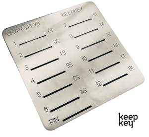Crypto-Keys KeepKey Backup Plate