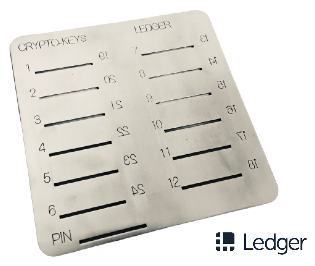 Crypto-Keys Ledger Backup Plate