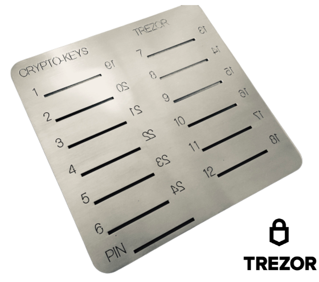 Crypto-Keys Trezor Backup Plate