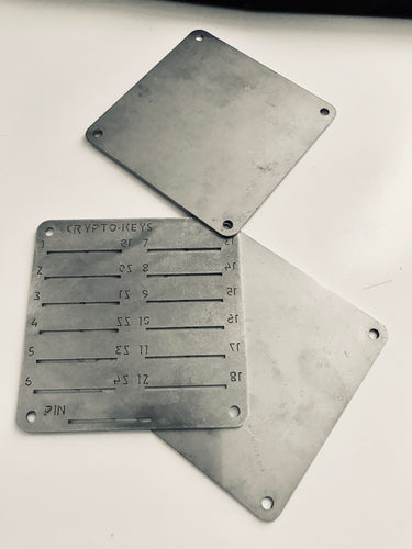 Crypto-Keys® Backup Plate