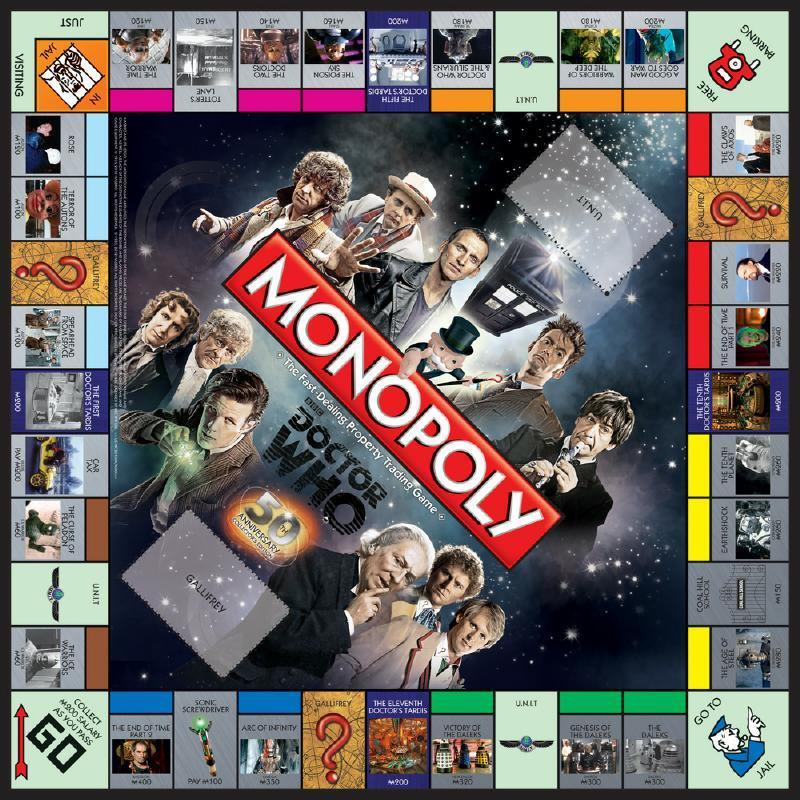 Doctor Who Monopoly 50th Anniversary Collectors Edition | Kessel Run Games Inc.