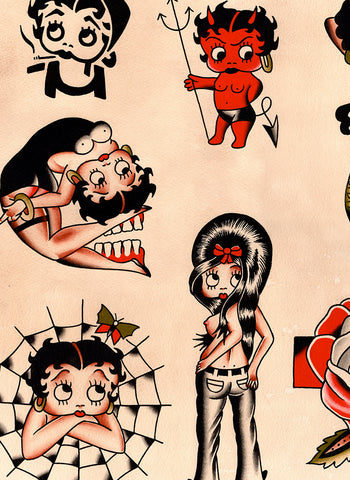 Betty Boop Flash Sheet