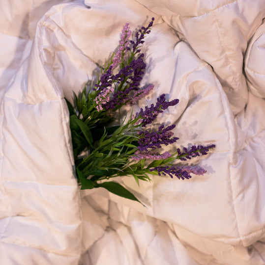 Essential Blankets The Essential Blanket - 15lb Lavender-infused Weighted Blanket (Spring)
