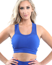 Load image into Gallery viewer, Milano Seamless Set - Leggings & Sports Bra - Blue - Size Small