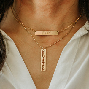 CUSTOM MESSAGE VERTICAL NECKLACE
