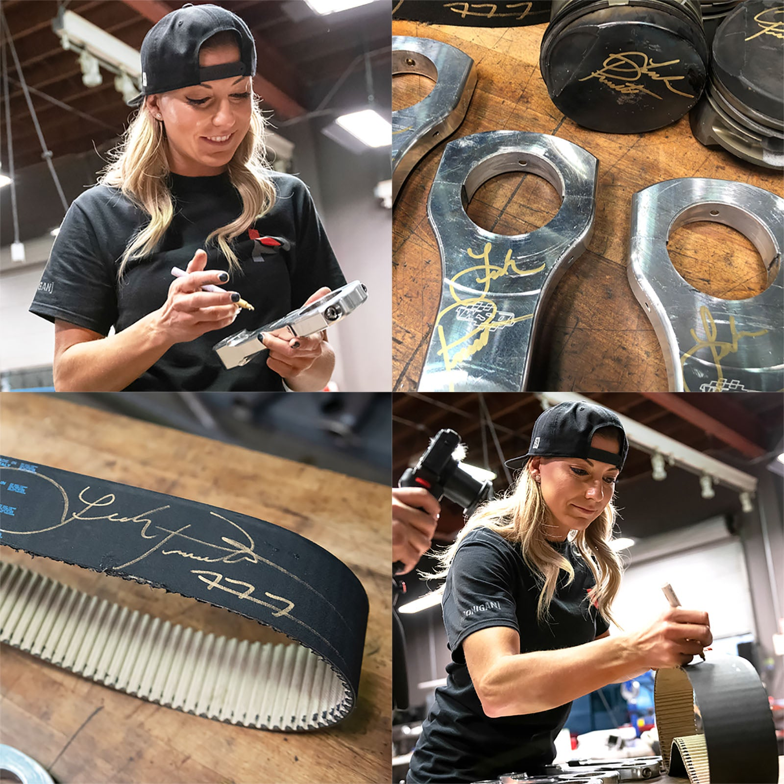 Leah Top Fuel Autographed Parts!