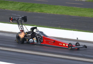 Leah takes the Mopar Dodge SRT Hellcat Redeye Top Fuel into the Semis at Indy!