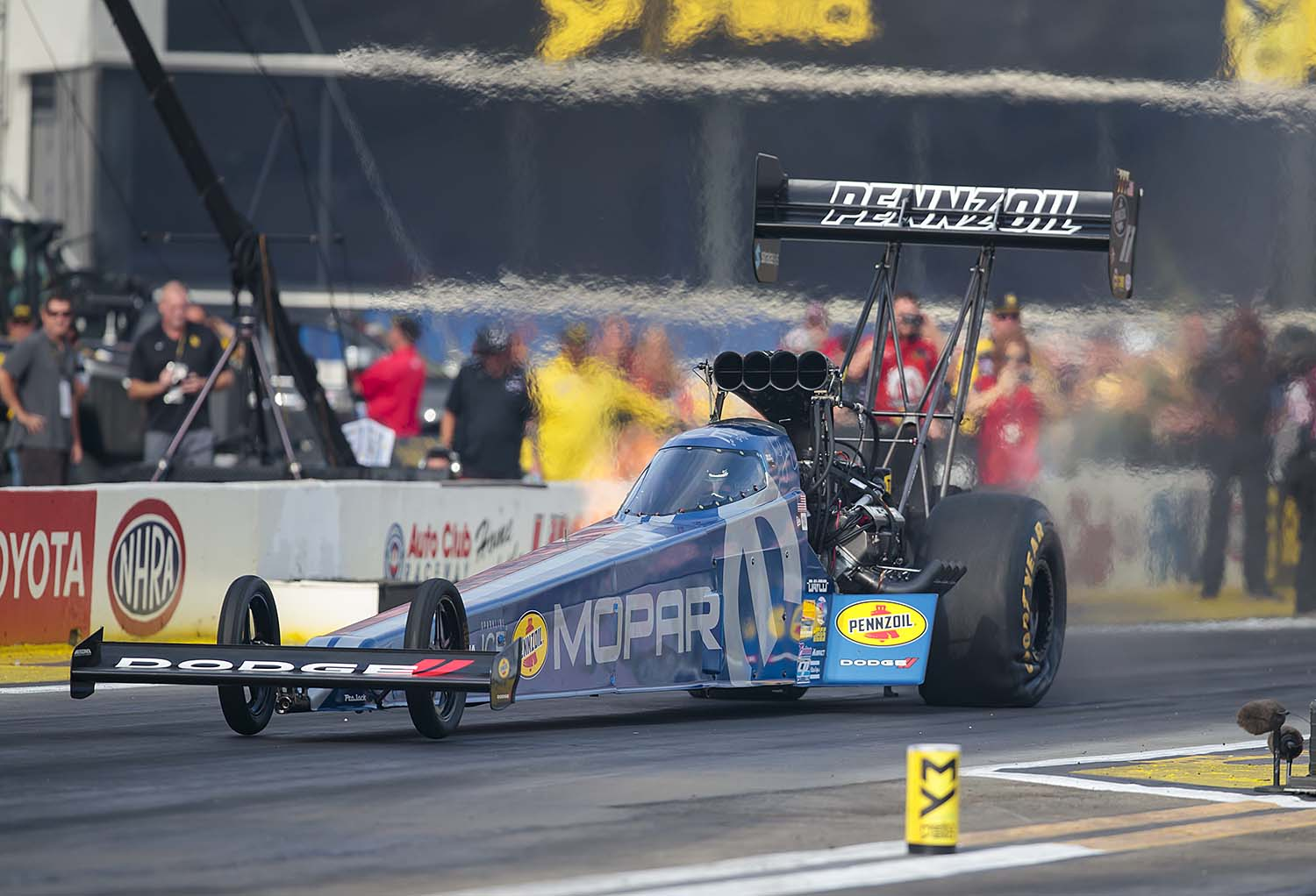 Leah rocketed to the head of the Top Fuel category by running low E.T. of Q2