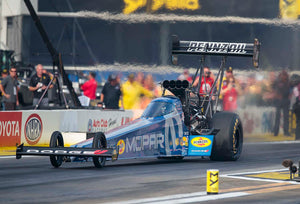 Leah Pritchett rocketed to the head of the Top Fuel category by running low E.T. of Q2