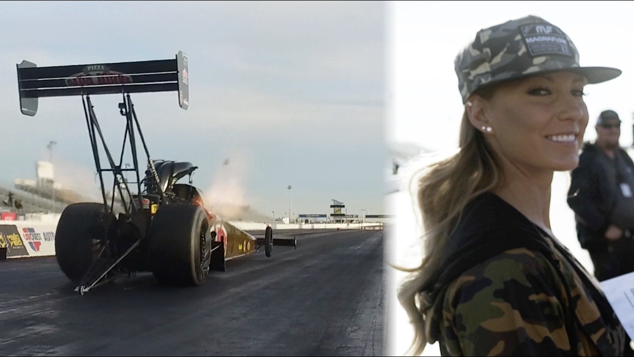 Leah Pritchett's 11,000hp Top Fuel Dragster testing