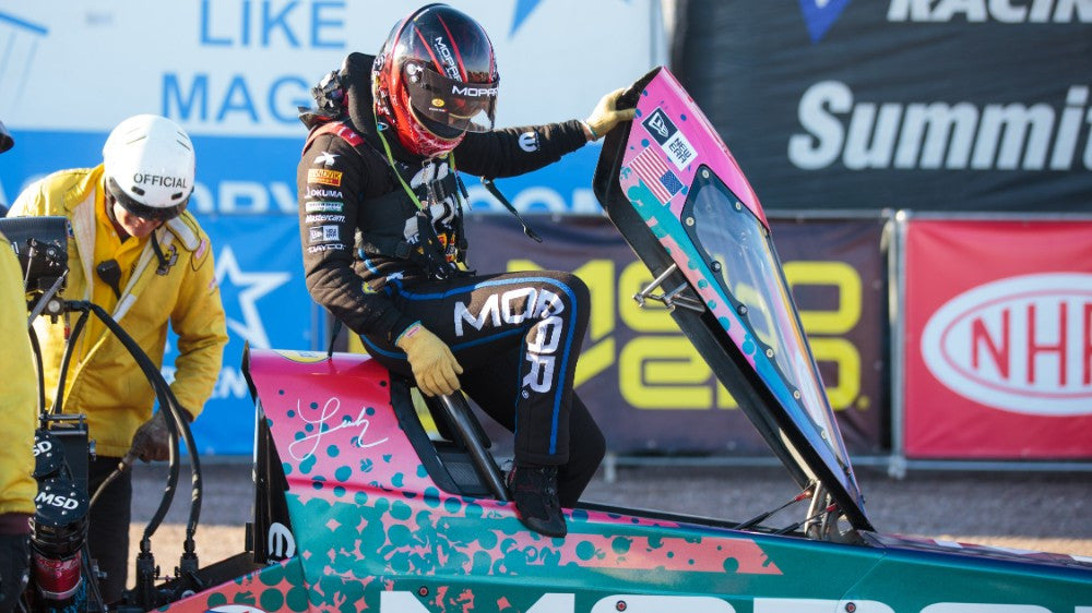The move I love to hate: Drag racer Leah Pritchett's up-and-down plank