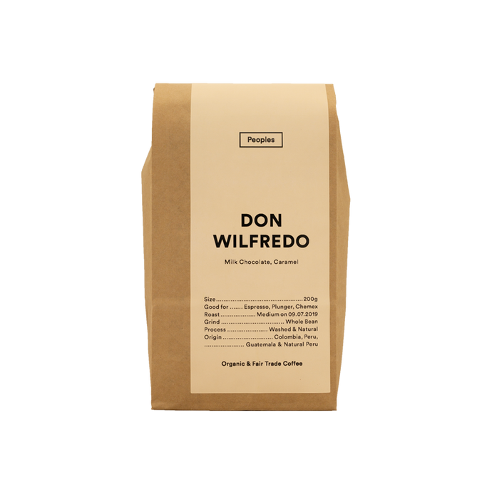 People's Coffee - Don Wilfredo Whole Beans 500g