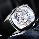 Men's Automatic Watch Silver Rubber Band