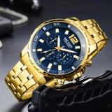 DELUXE Chronograph Men's Watch Gold