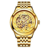 Men's Watch Automatic Movement Skeleton Design Gold