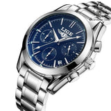 CONFIDANCE Quartz Men's Watch silver blue - Crafted In Time