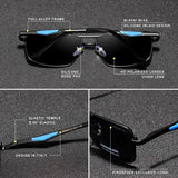 Men's Square Classic Polarised Sunglasses