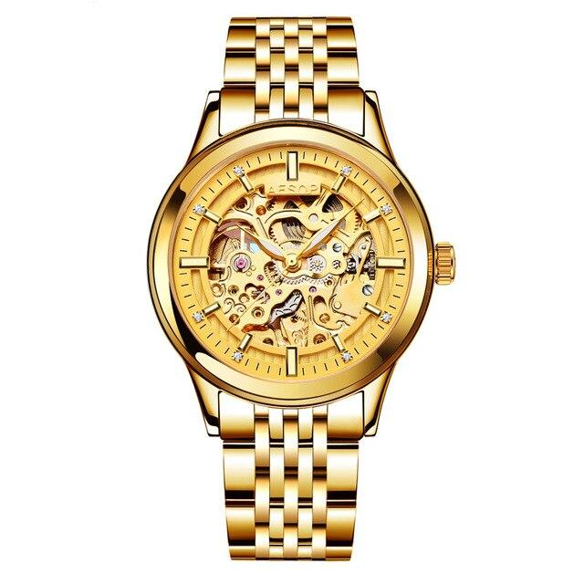 Couples Hallow-Golden Mechanical Watch