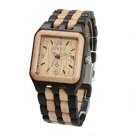 TIMES SQUARE Wooden Watch