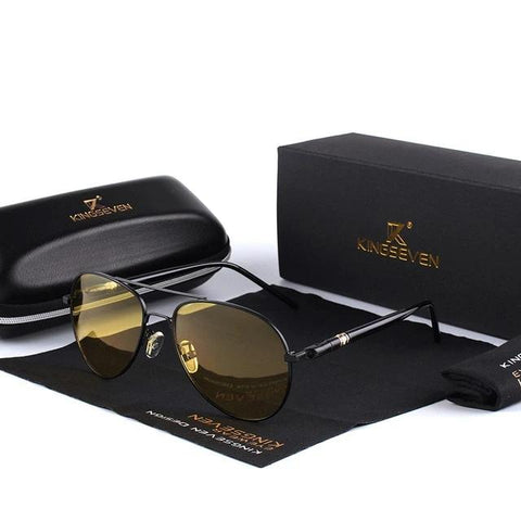 Men's PILOT Polarised Sunglasses Black Frame